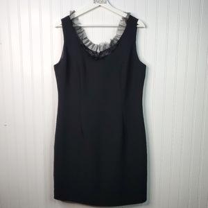 Camille La Vie Black A-Line Sleeveless Tulle Dress